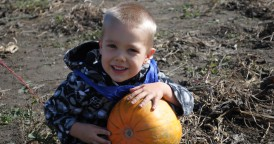 Blake With Halloween Pumpkin