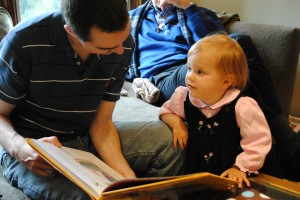 Daddy and Julia Read A New Book