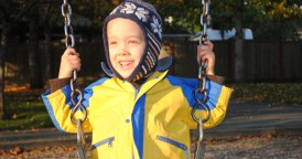 Blake on the swing at the park